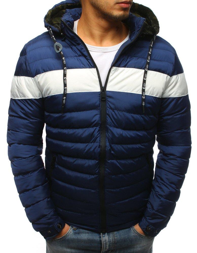 f209ef01261dd Kurtka męska zimowa pikowana niebieska (tx2394) - sklep online ...