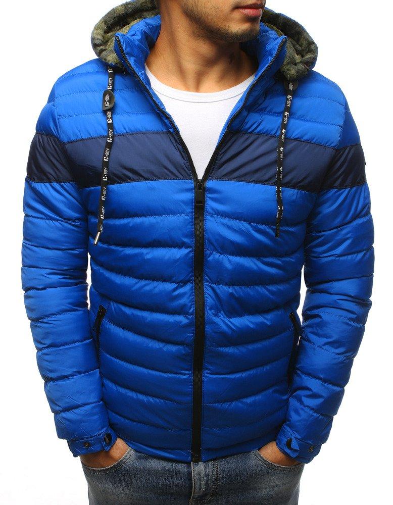 f1bb938a16a4e Kurtka męska zimowa pikowana niebieska (tx2396) - sklep online ...