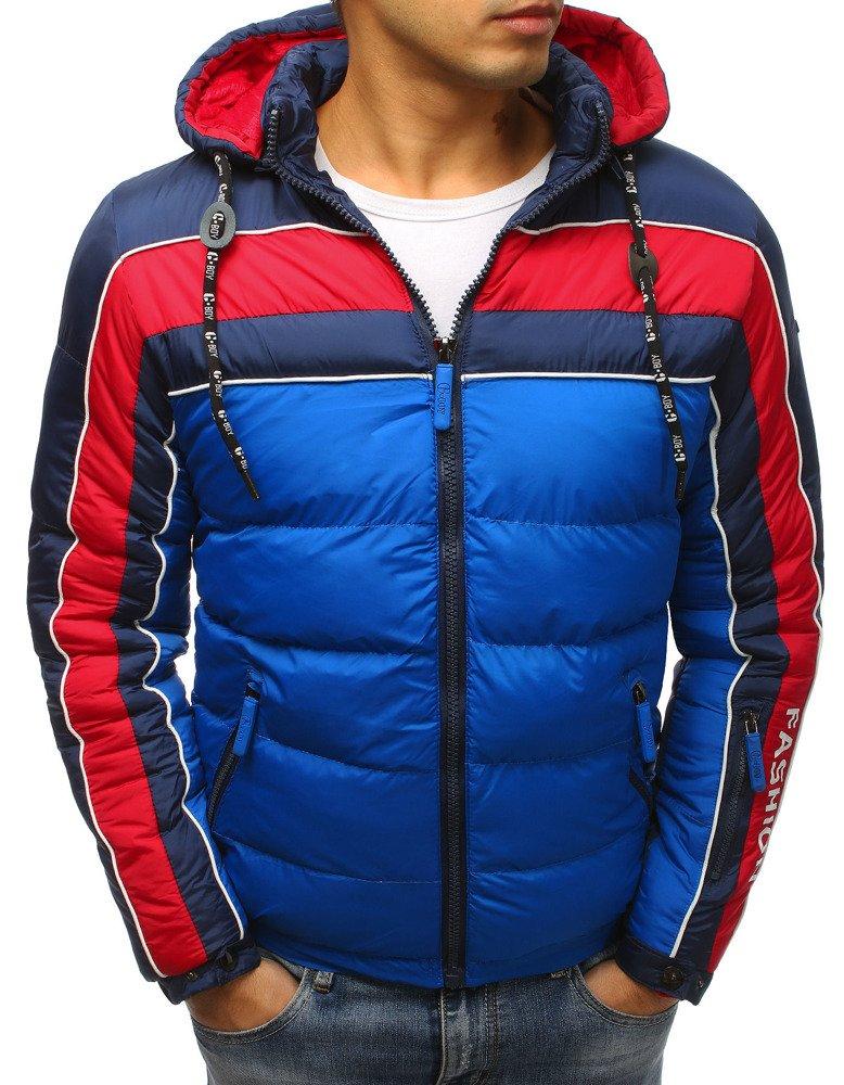 aa7d1ba0b6277 Kurtka męska zimowa pikowana niebieska (tx2488) - sklep online ...