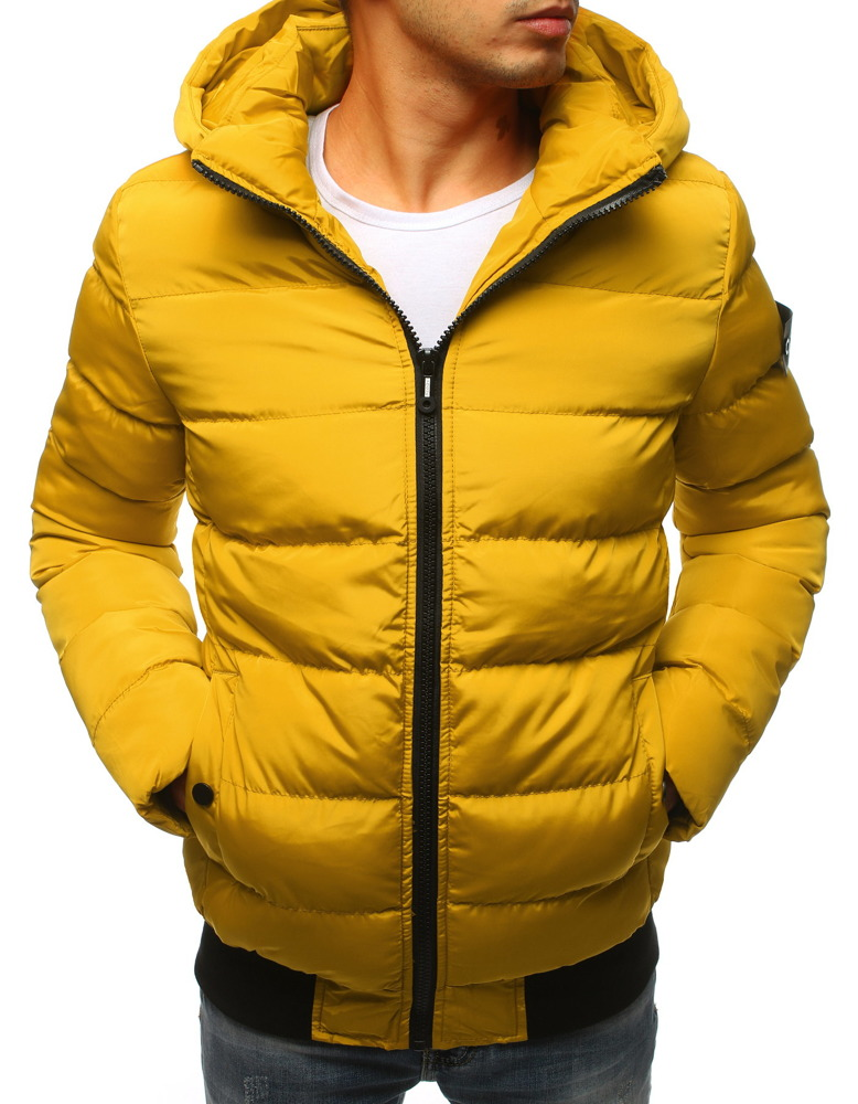 Bardzo dobryFantastyczny Kurtka męska zimowa pikowana żółta (tx2310) - sklep online Dstreet.pl YI76
