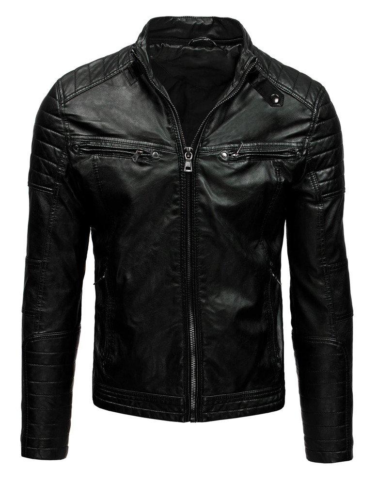 80f944707007e Kurtka skórzana męska czarna (tx1660A) - sklep online Dstreet.pl