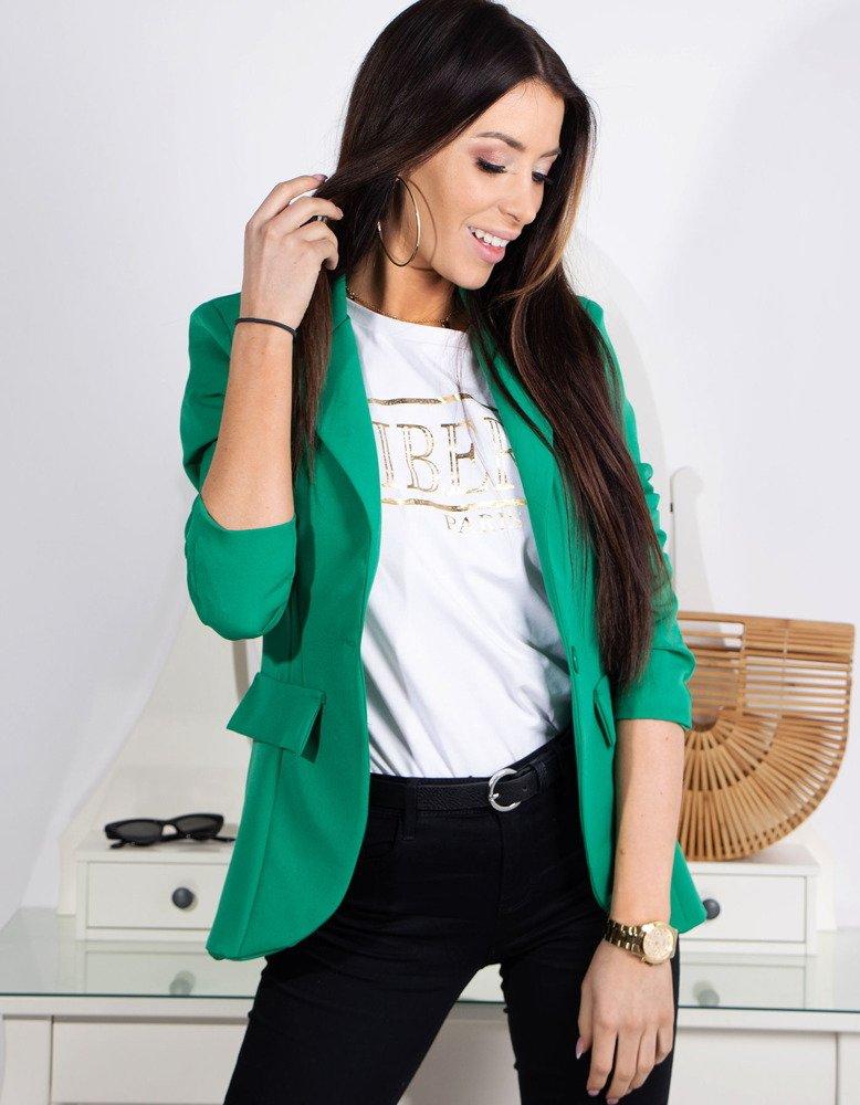 13f675410d Marynarka damska LOVE zielona (py0013) - sklep online Dstreet.pl