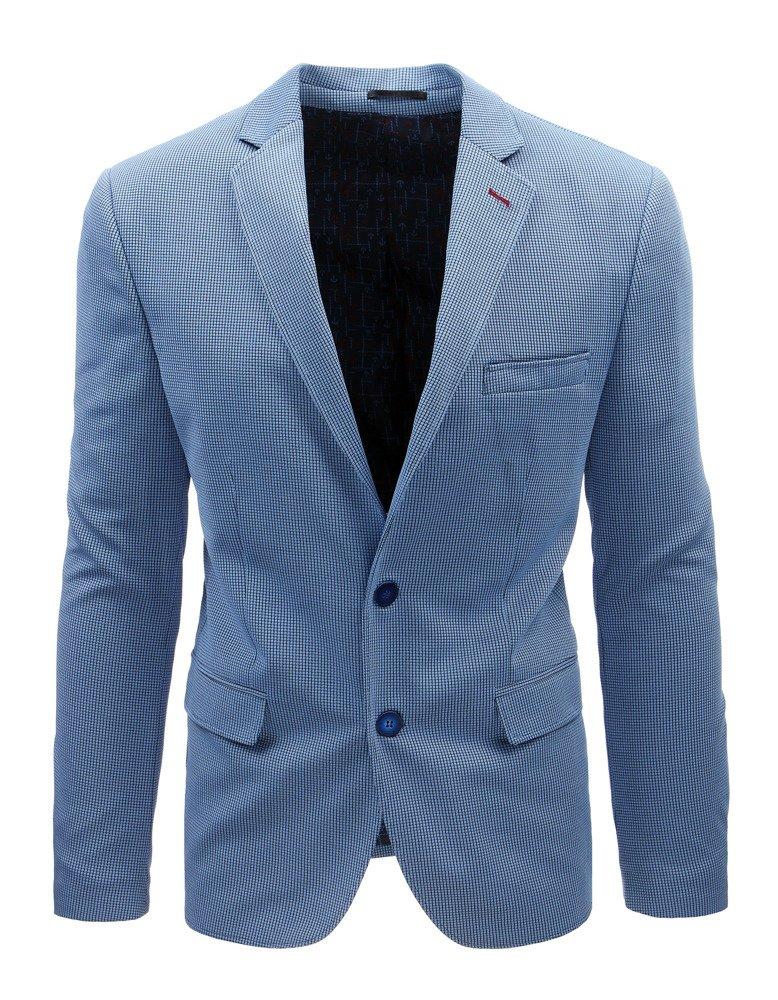 bb1ca2e445e05 Marynarka męska casual niebieska w kratę (mx0366) - sklep online ...