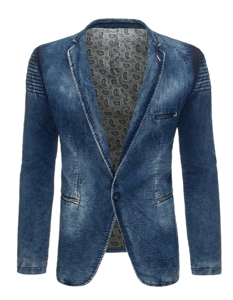 1d777d879e10b Marynarka męska jeansowa niebieska (mx0282) - sklep online Dstreet.pl