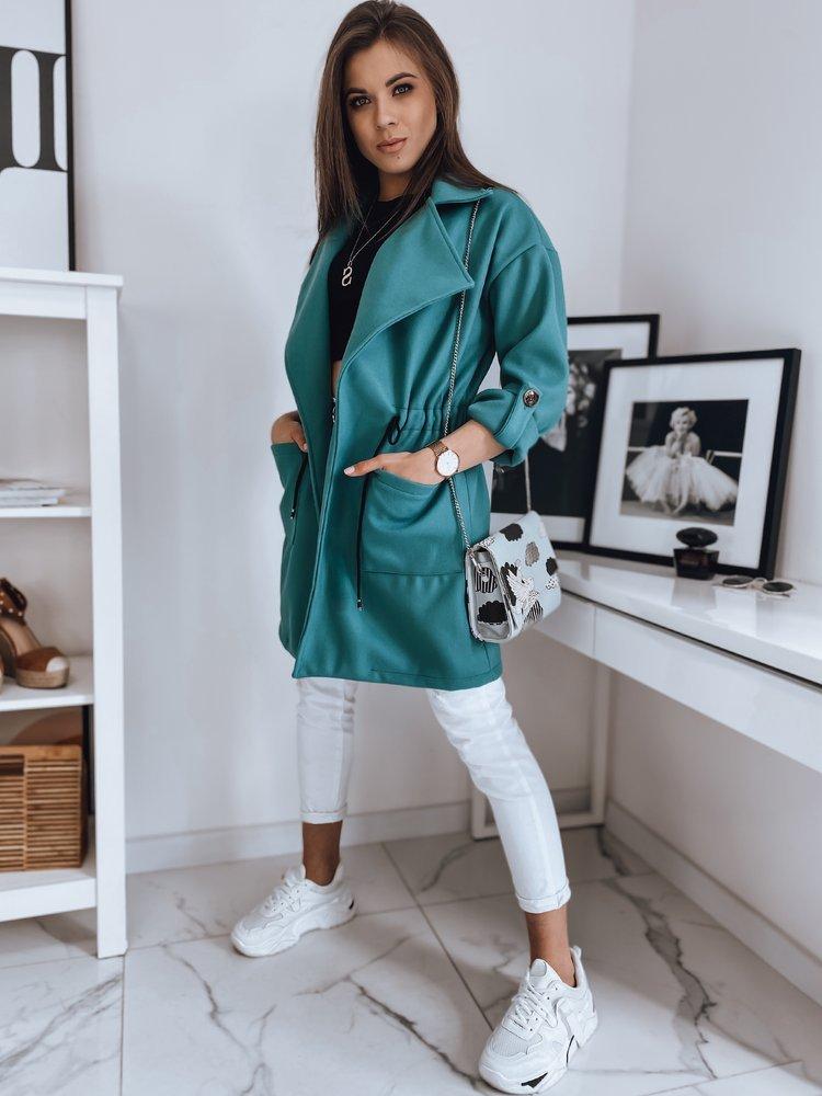 turkusowy płaszcz LOLA Dstreet NY0435