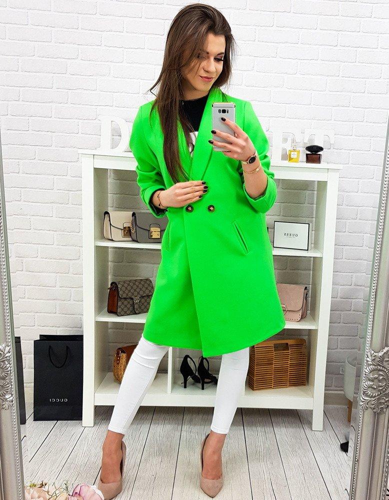 8e201d3b23 Płaszcz damski TRINI neonowa zieleń (ny0243) - sklep online Dstreet.pl
