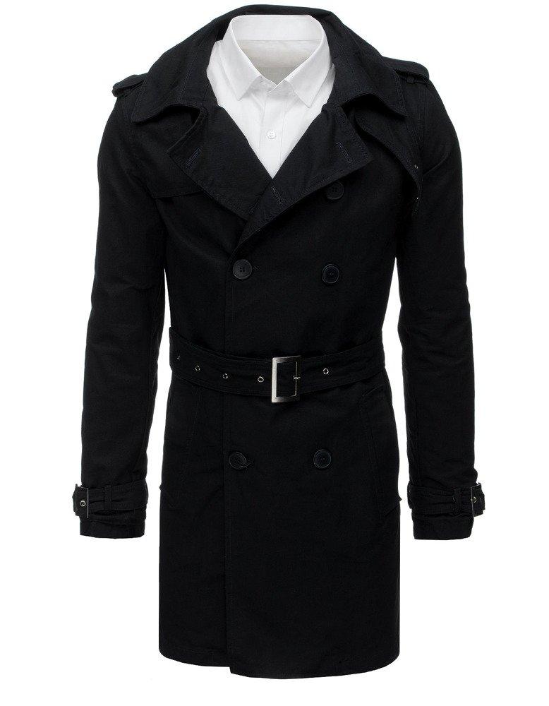 Płaszcz męski prochowiec czarny CX0390