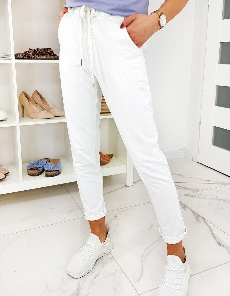 Spodnie damskie SELENA białe UY0474