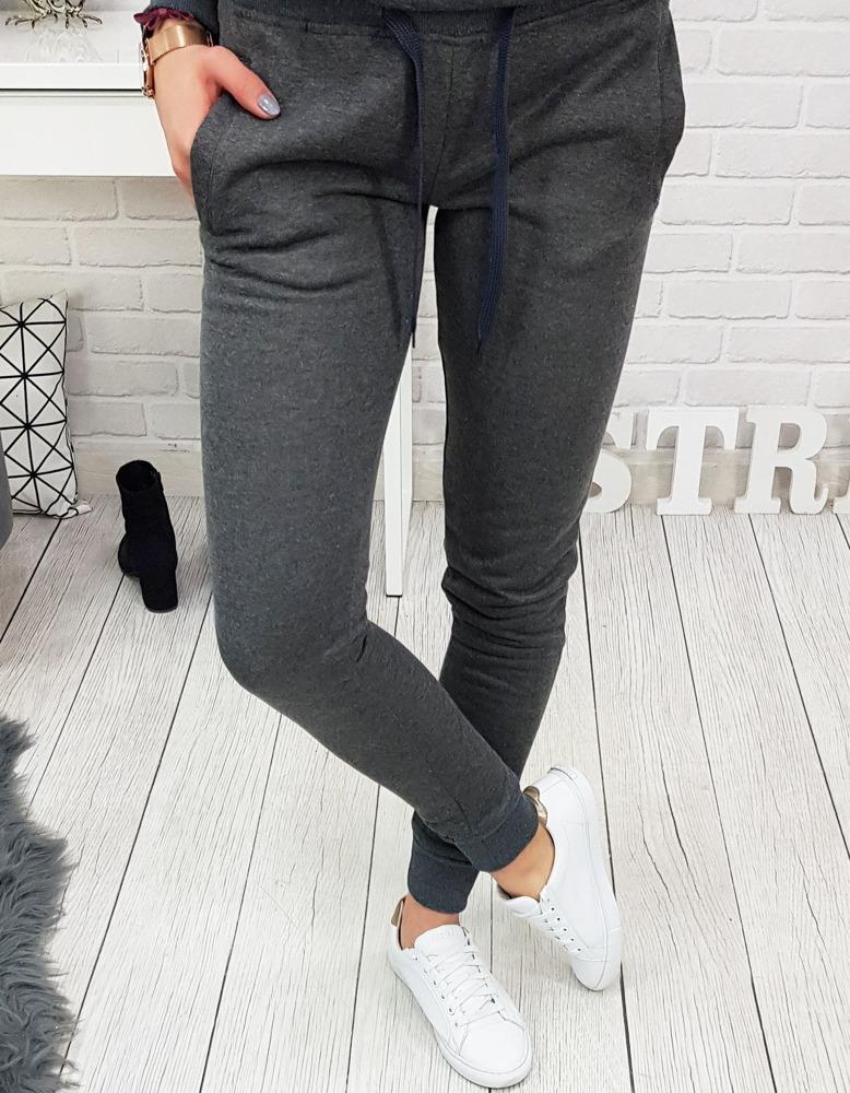 Spodnie dresowe FITT damskie antracytowe UY0133