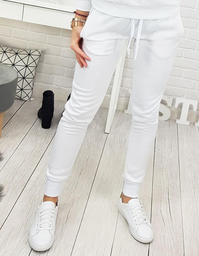 c80528fd Spodnie dresowe FITT damskie białe (uy0134)