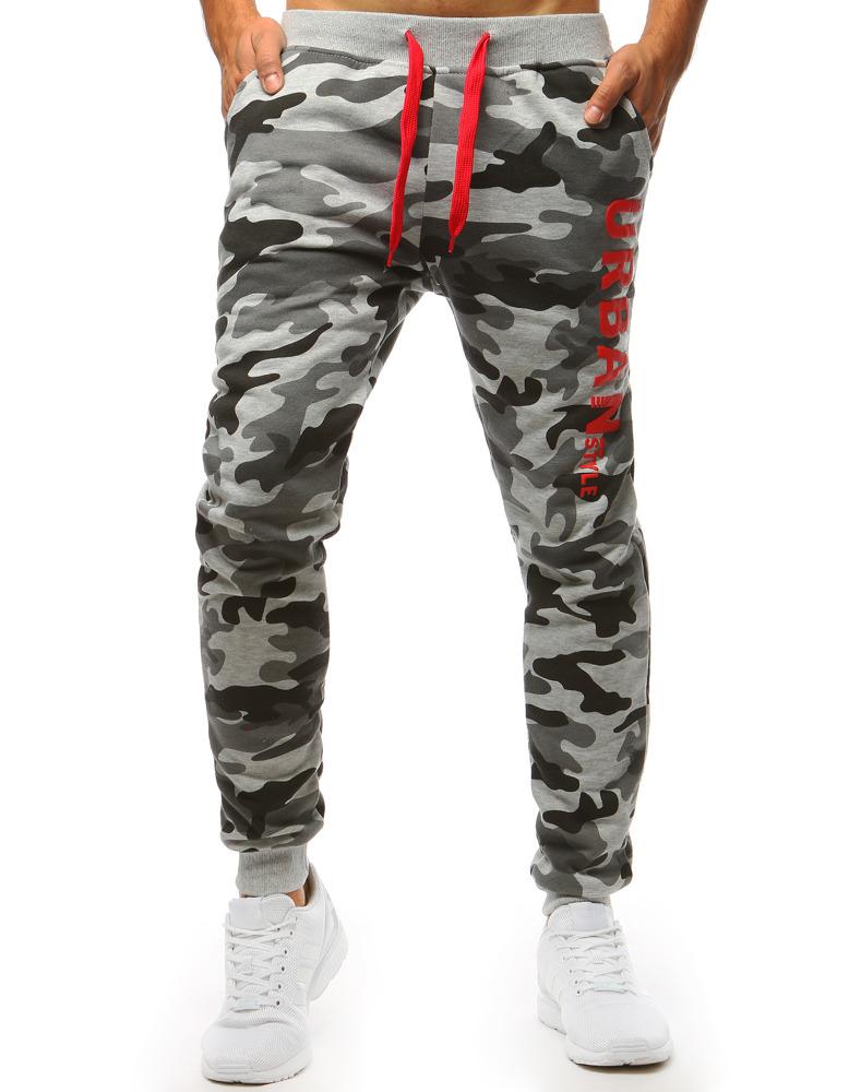 cfe75c0e Spodnie dresowe męskie camo szare (ux1408)