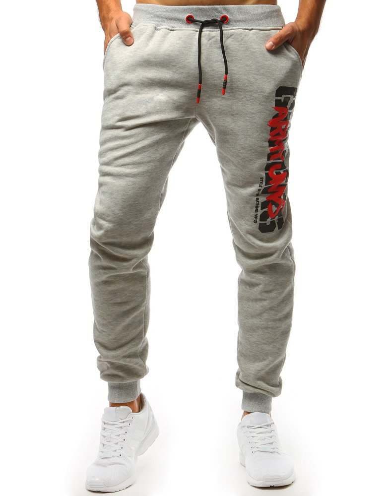 87a4fbe5 Spodnie dresowe męskie szare (ux1393)