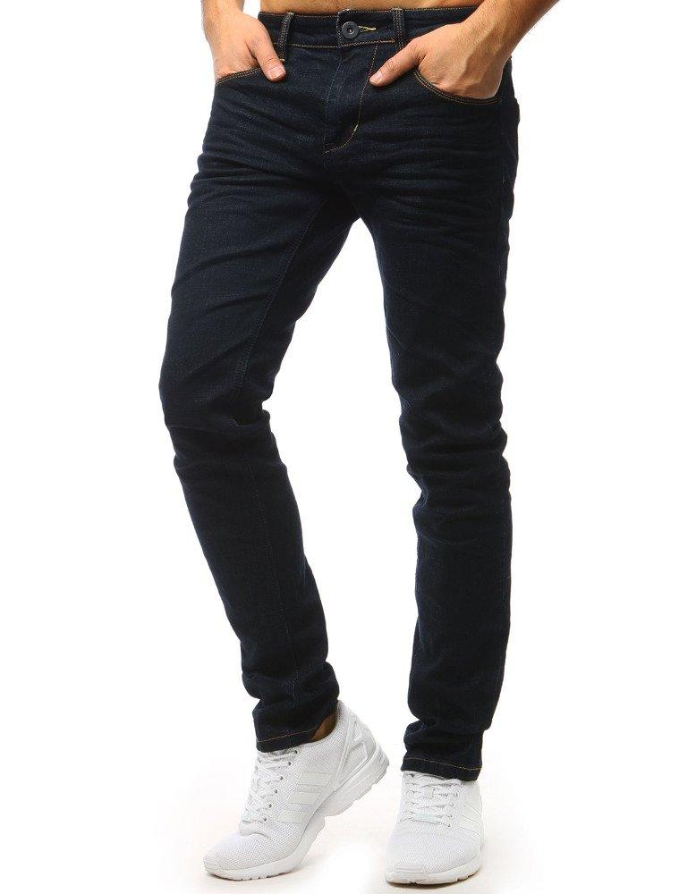 Spodnie jeansowe męskie ciemnogranatowe UX1565