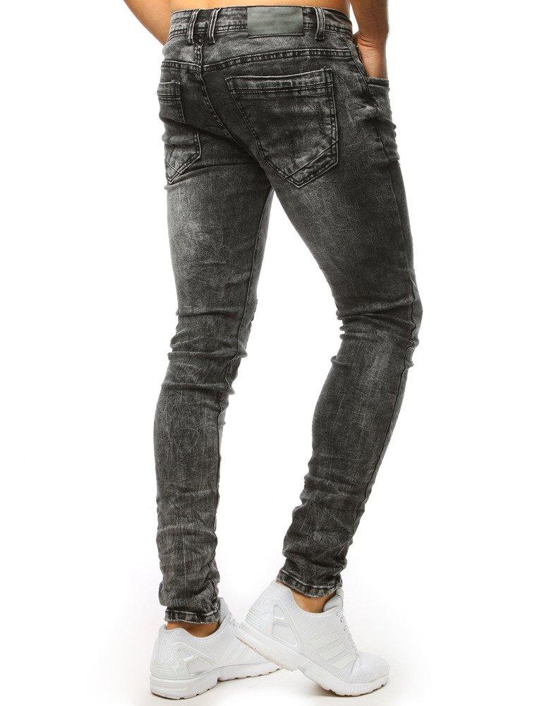 Spodnie jeansowe męskie grafitowe UX1500