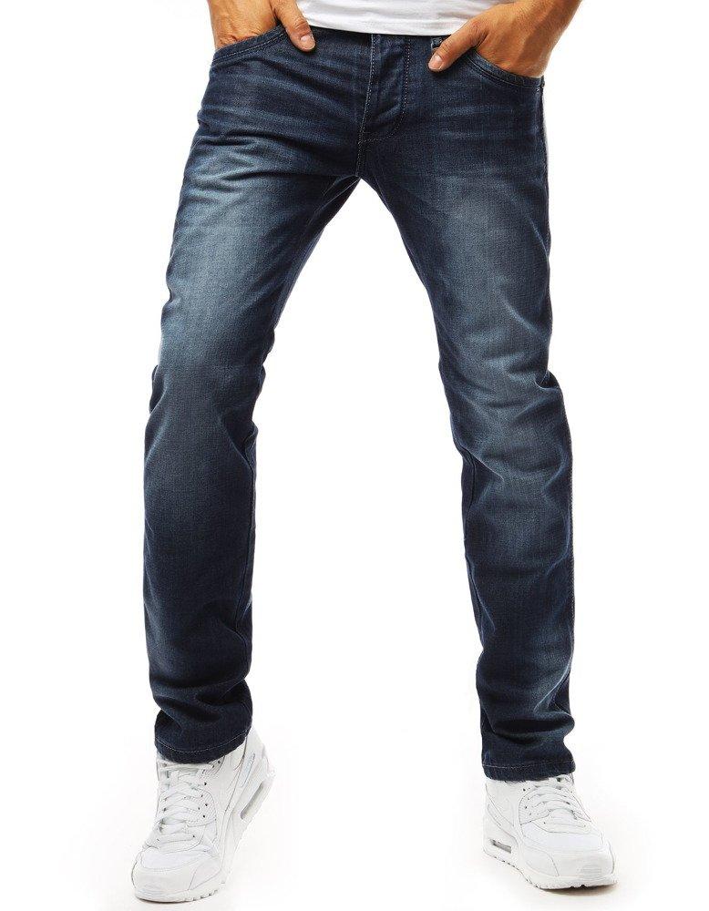 Spodnie jeansowe męskie niebieskie UX1973