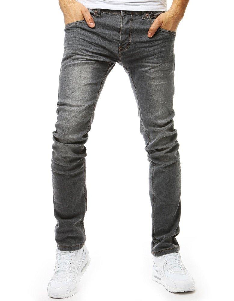 a7c81b0bf Spodnie jeansowe męskie szare (ux1839) - sklep online Dstreet.pl