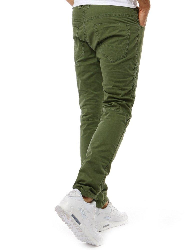 Spodnie jeansowe męskie zielone UX1894