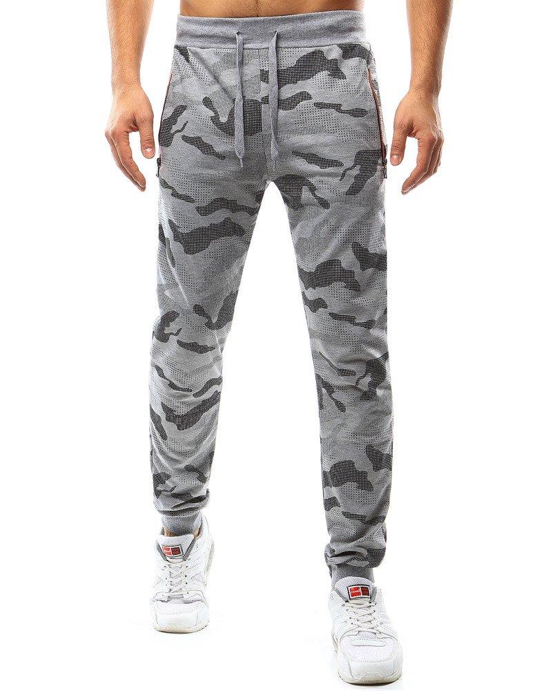 d6de5f5f Spodnie męskie dresowe camo szare (ux1071)
