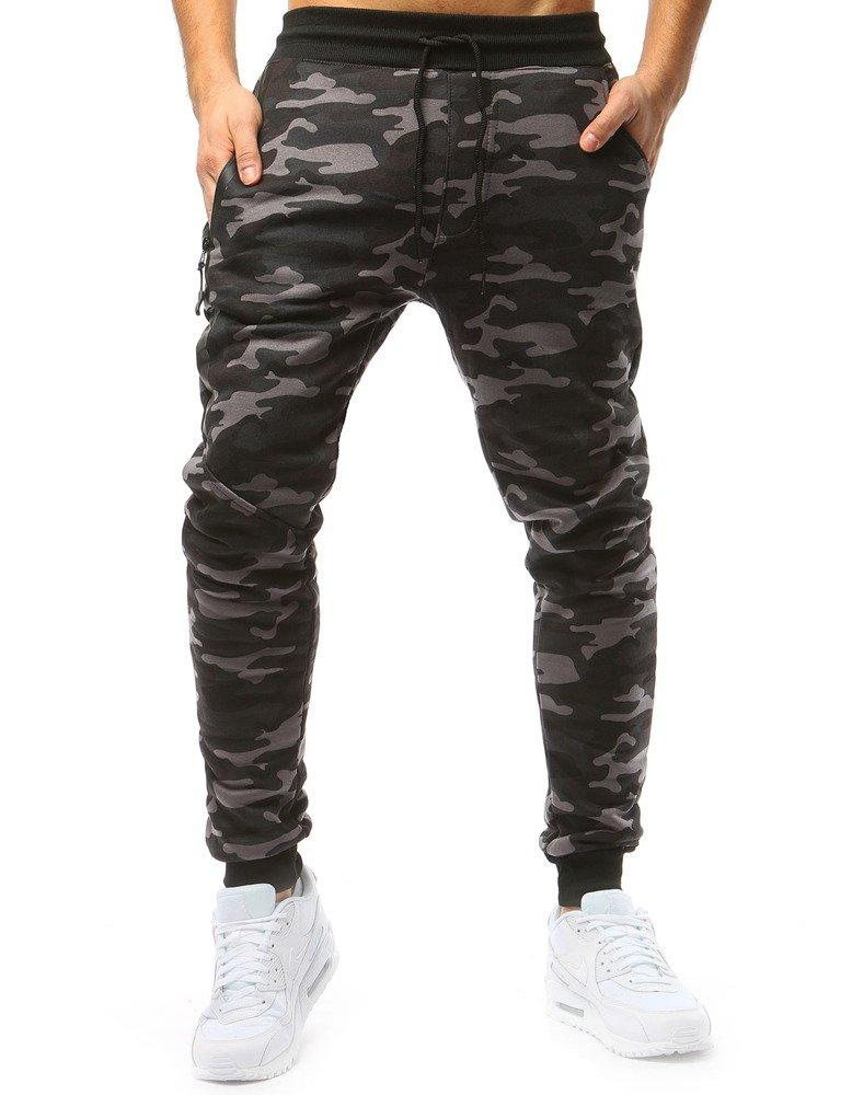 2feb2f90 Spodnie męskie dresowe camo szare (ux1709)