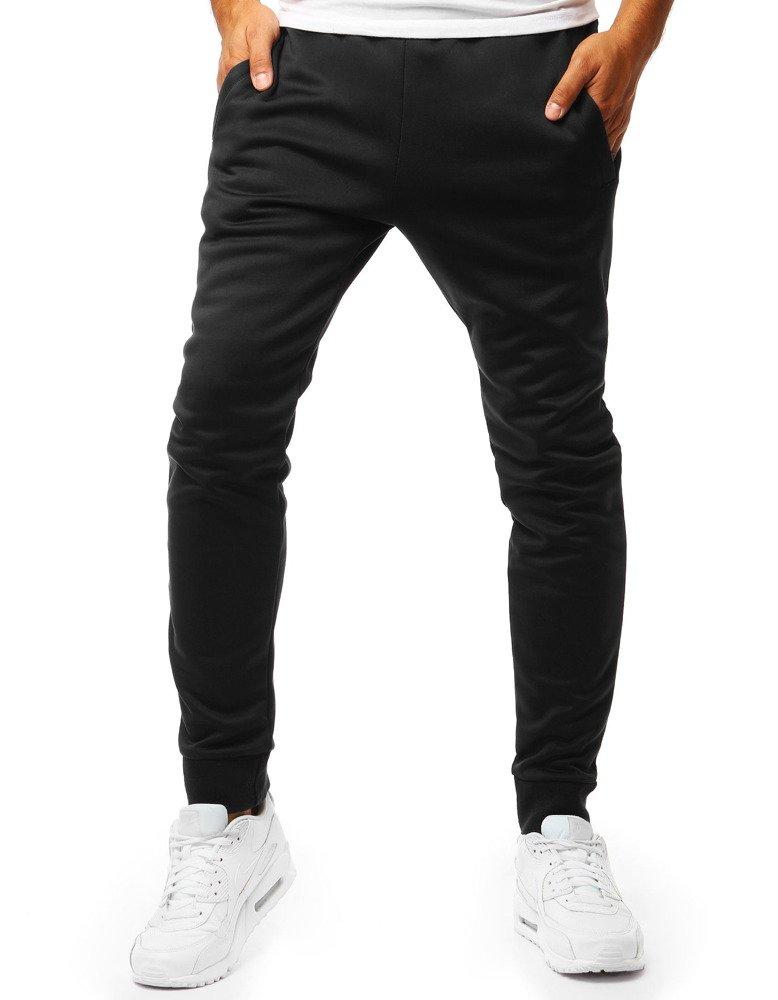 Spodnie męskie dresowe joggery czarne UX2010