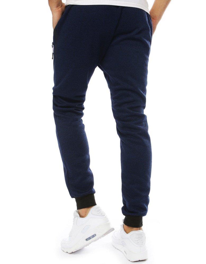 Spodnie męskie dresowe joggery granatowe UX2123