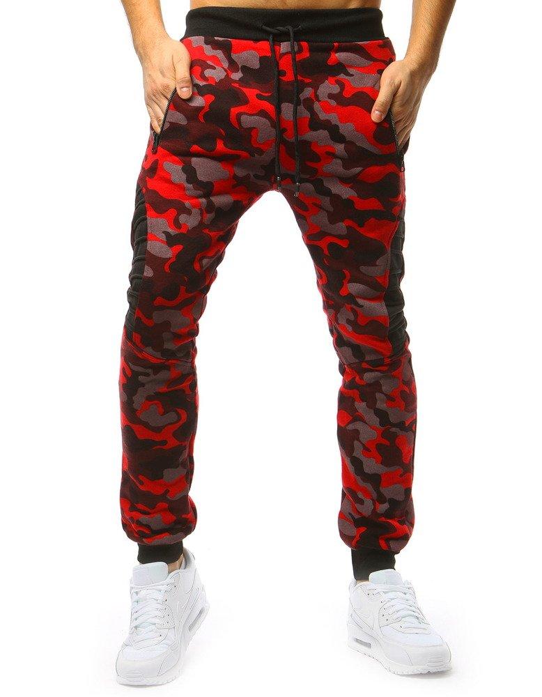 ddb6f4756 Spodnie męskie dresowe moro czerwone (ux1691) - sklep online Dstreet.pl