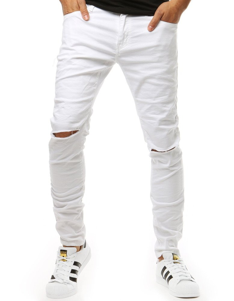 Spodnie męskie jeansowe białe UX1926