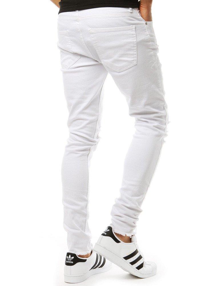 Spodnie męskie jeansowe białe UX1927