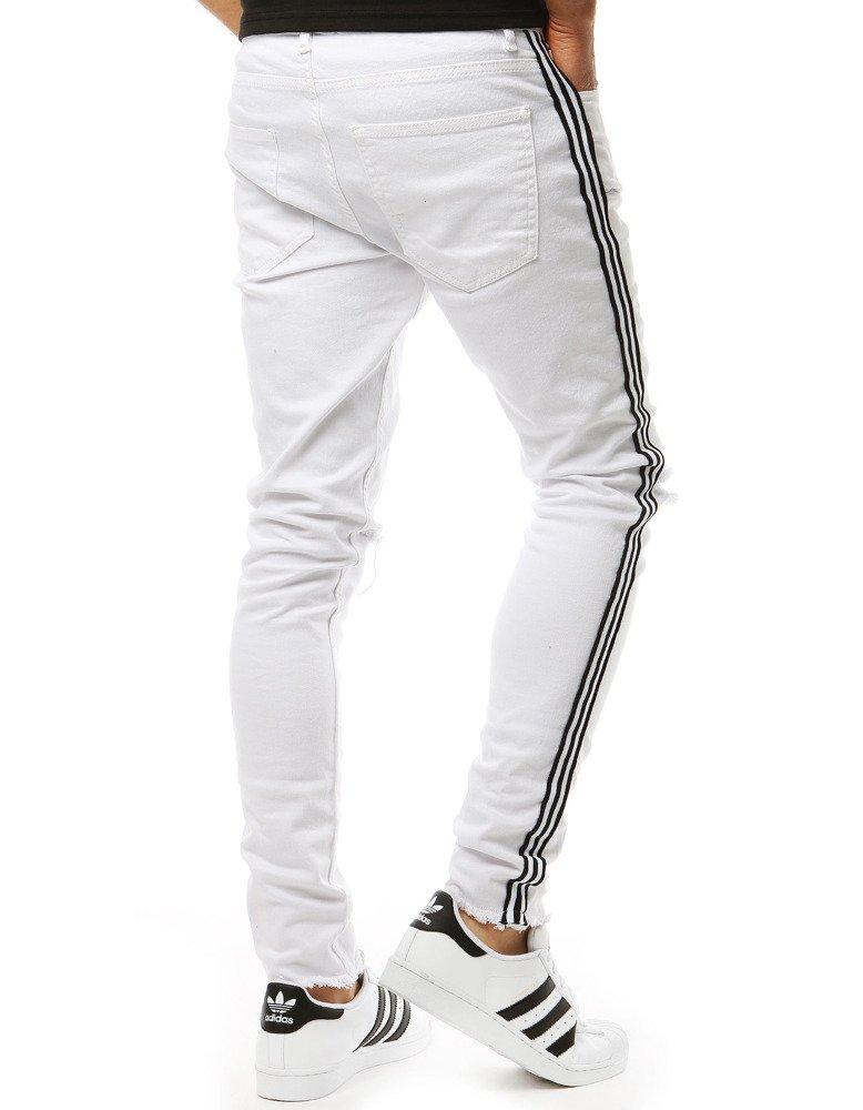 Spodnie męskie jeansowe białe UX1928