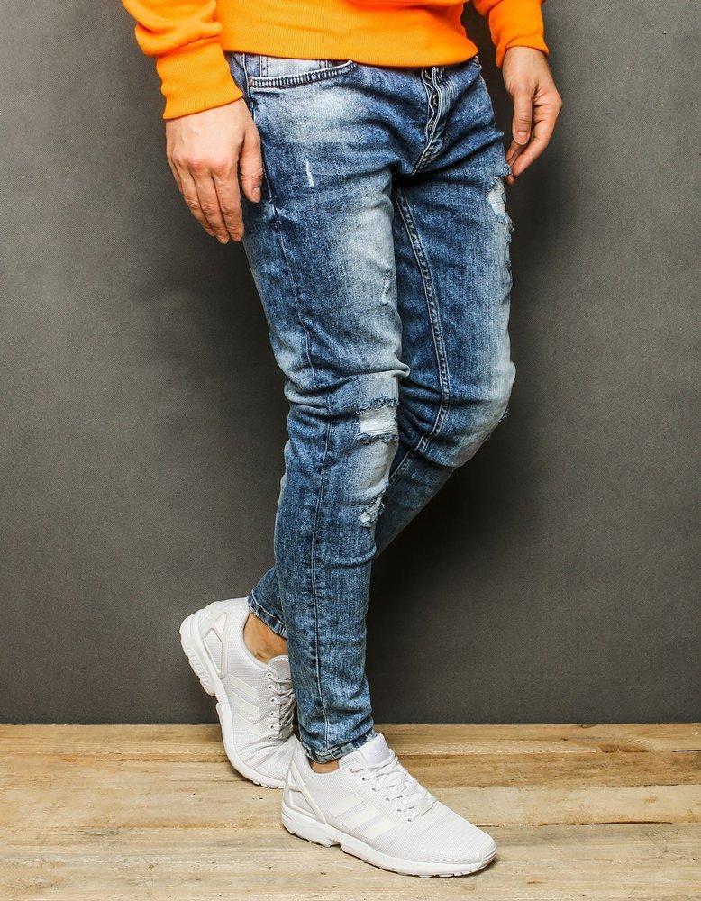 Spodnie męskie jeansowe niebieskie UX2236
