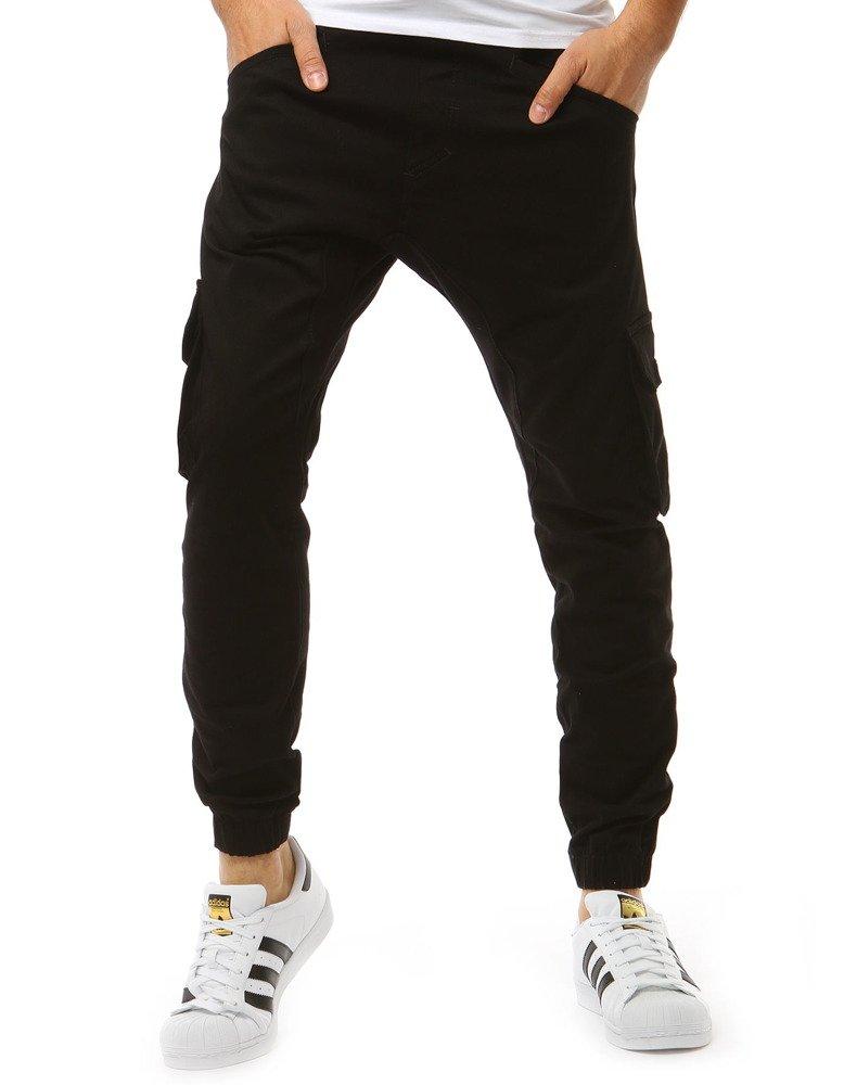 Spodnie męskie joggery czarne UX1881