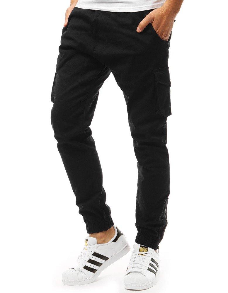 Spodnie męskie joggery czarne UX1920