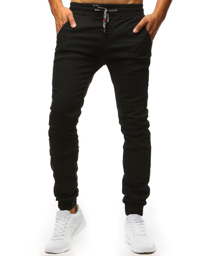 72c23e7b440424 Spodnie męskie joggery czarne (ux1297) - sklep online Dstreet.pl