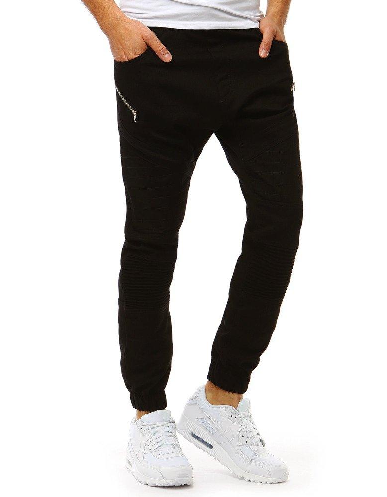 6e0f880fd6f766 Spodnie męskie joggery czarne (ux1885) - sklep online Dstreet.pl