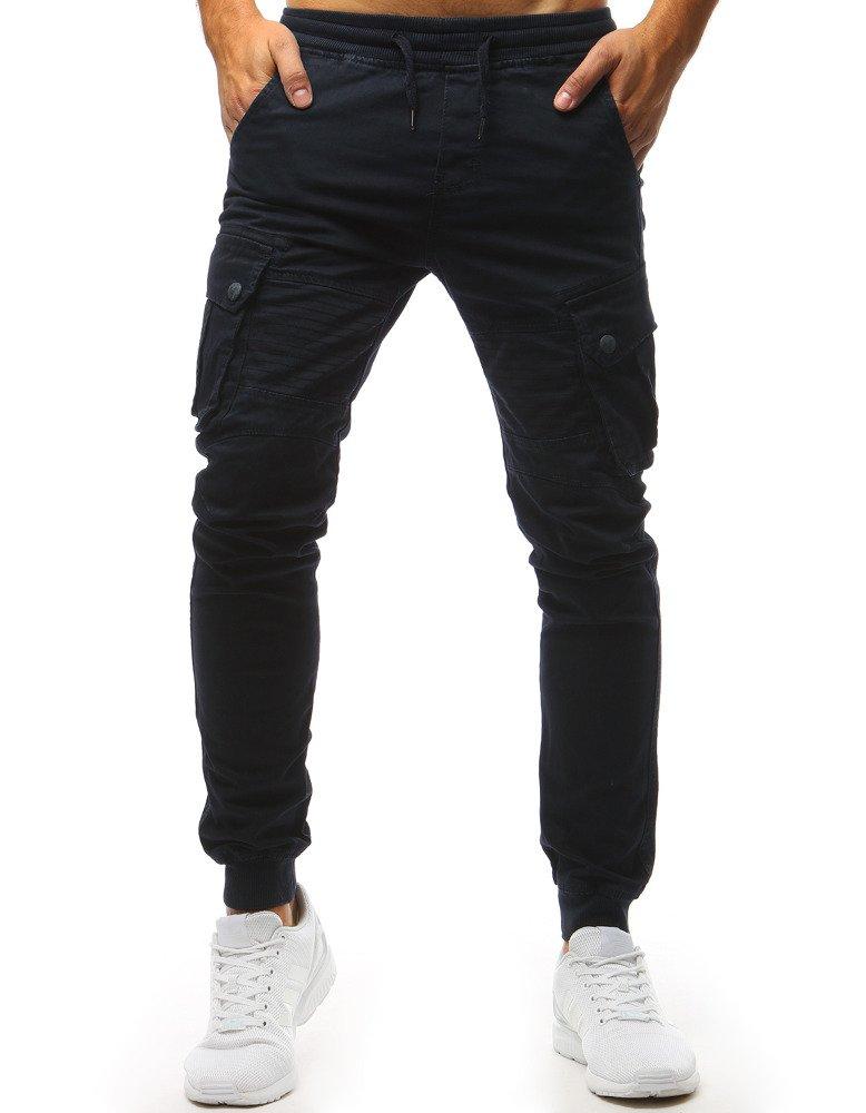 Spodnie męskie joggery granatowe UX1420