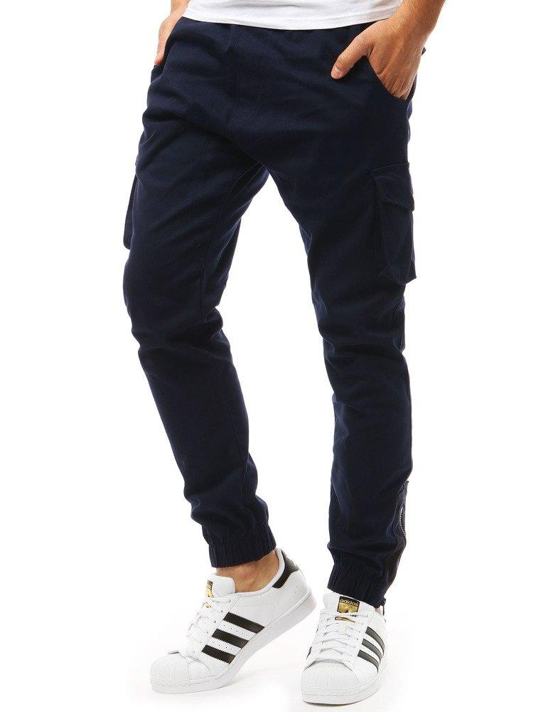 Spodnie męskie joggery granatowe UX1918