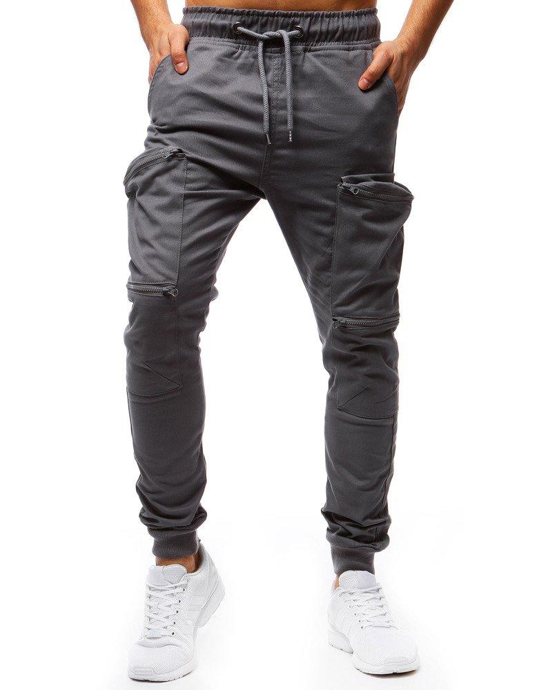 8f912b31e5540 Spodnie męskie joggery szare (ux1252) - sklep online Dstreet.pl