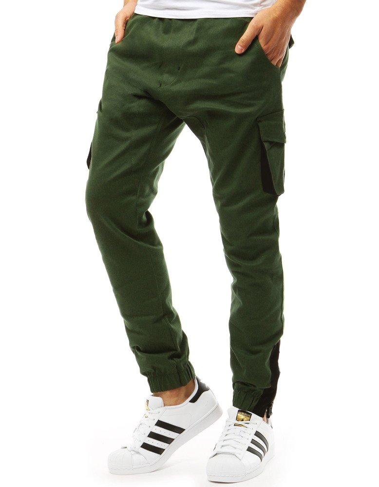 Spodnie męskie joggery zielone UX1916