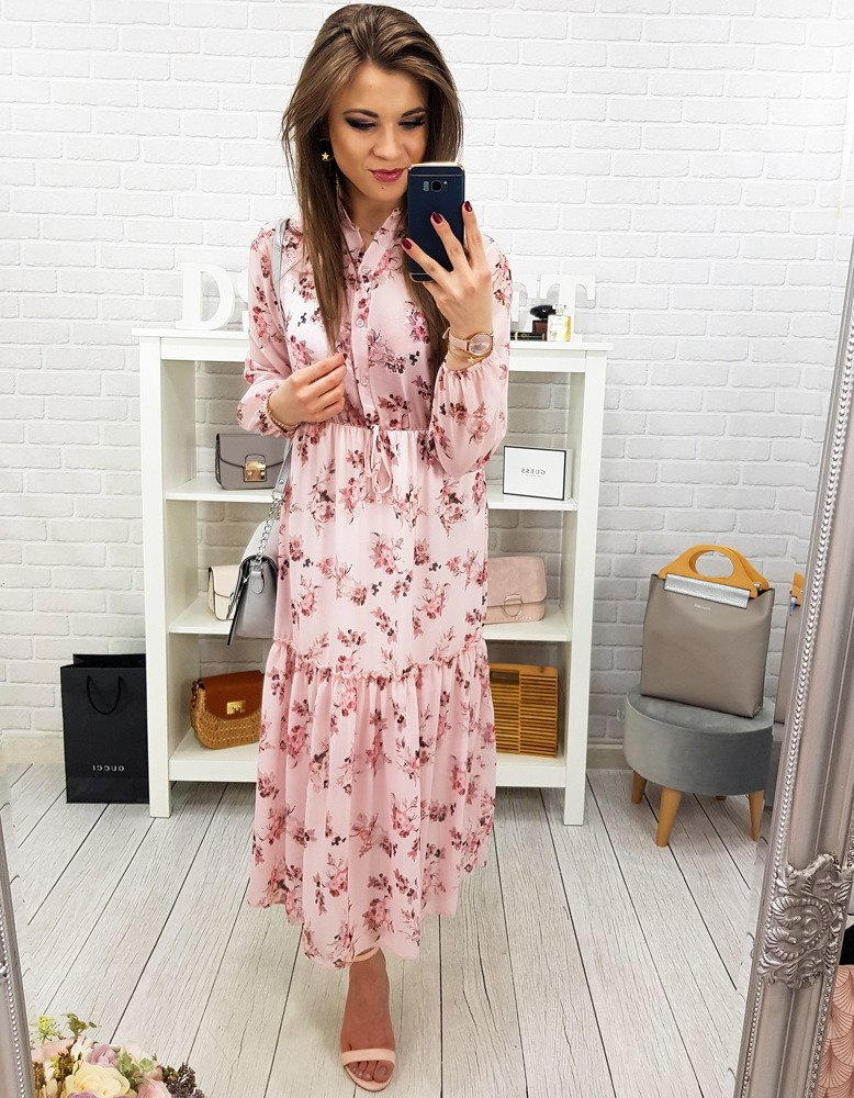 4b6fd93717 Sukienka MAXI PAULA cukierkowy róż (ey0799) - sklep online Dstreet.pl