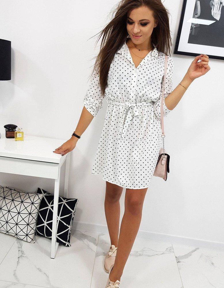 e707e516a8 Sukienka POLLY w groszki biała (ey0732) - sklep online Dstreet.pl