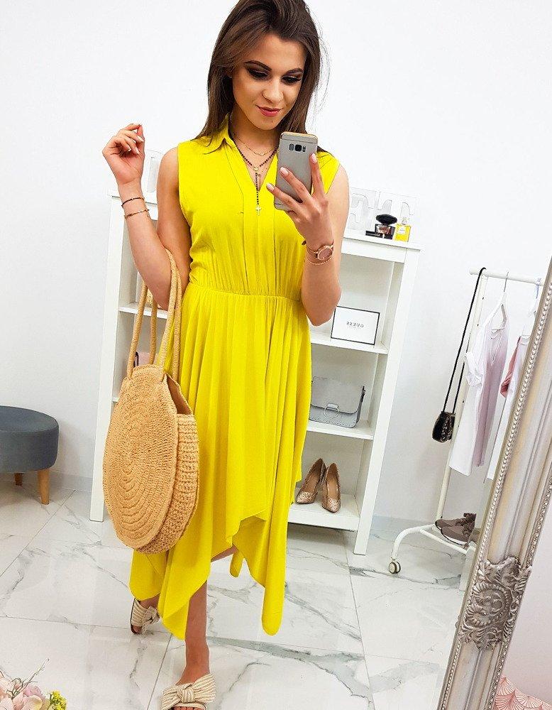 0d6c30a2449d7f Sukienka bez rękawów żółta (ey0901) - sklep online Dstreet.pl