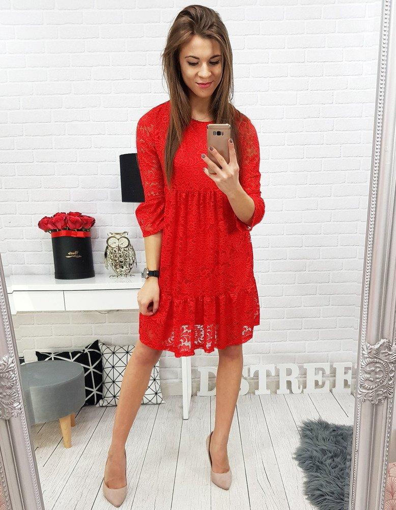7f4528b00d Sukienka koronkowa COBIE czerwona (ey0628) - sklep online Dstreet.pl