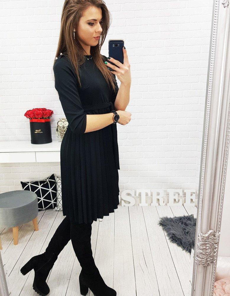 0ccb763236 Sukienka KIM plisowana czarna (ey0717) - sklep online Dstreet.pl