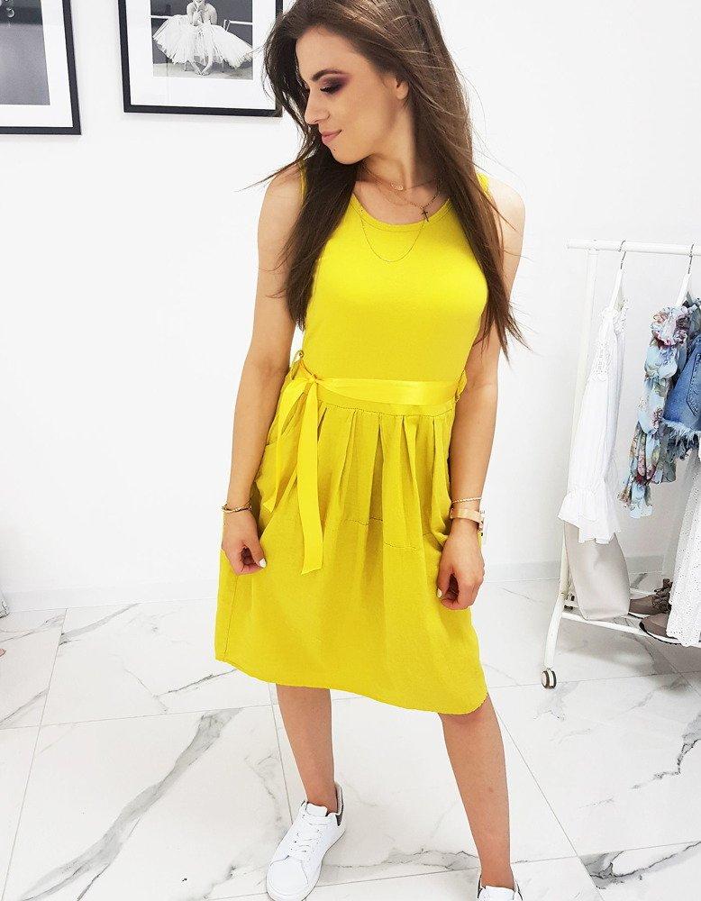 bdf9a7b294fa4c Sukienka żółta (ey0923) - sklep online Dstreet.pl