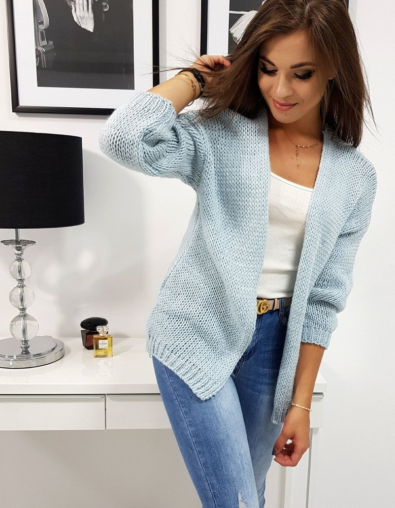 a80e51a4f0d85a Sweter damski MELISSA błękitny (my0568) - sklep online Dstreet.pl