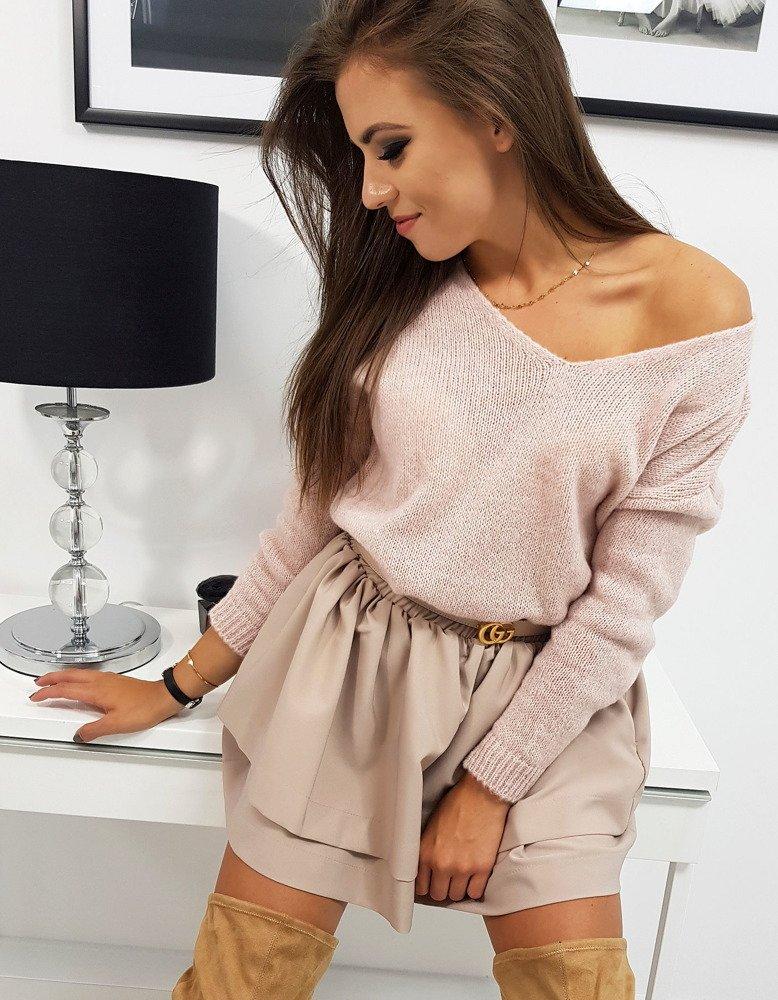 Modne ubrania Sweter damski MILLAU pudrowy róż (my0564) - sklep online Dstreet.pl MJ78
