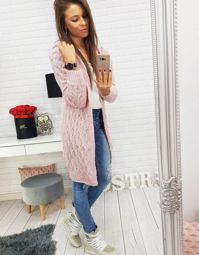 7e4c327f486bdd Sweter damski MERIDA różowy (my0397) - sklep online Dstreet.pl