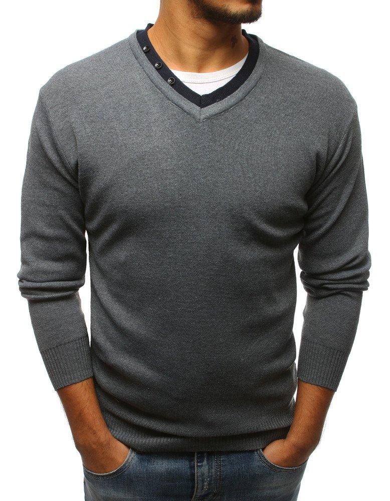 a90c96931bedf9 Sweter męski szary (wx1125) - sklep online Dstreet.pl