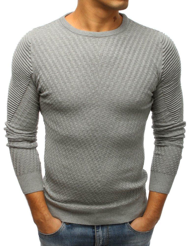 8f3c2d6b042612 Sweter męski szary (wx1201) - sklep online Dstreet.pl