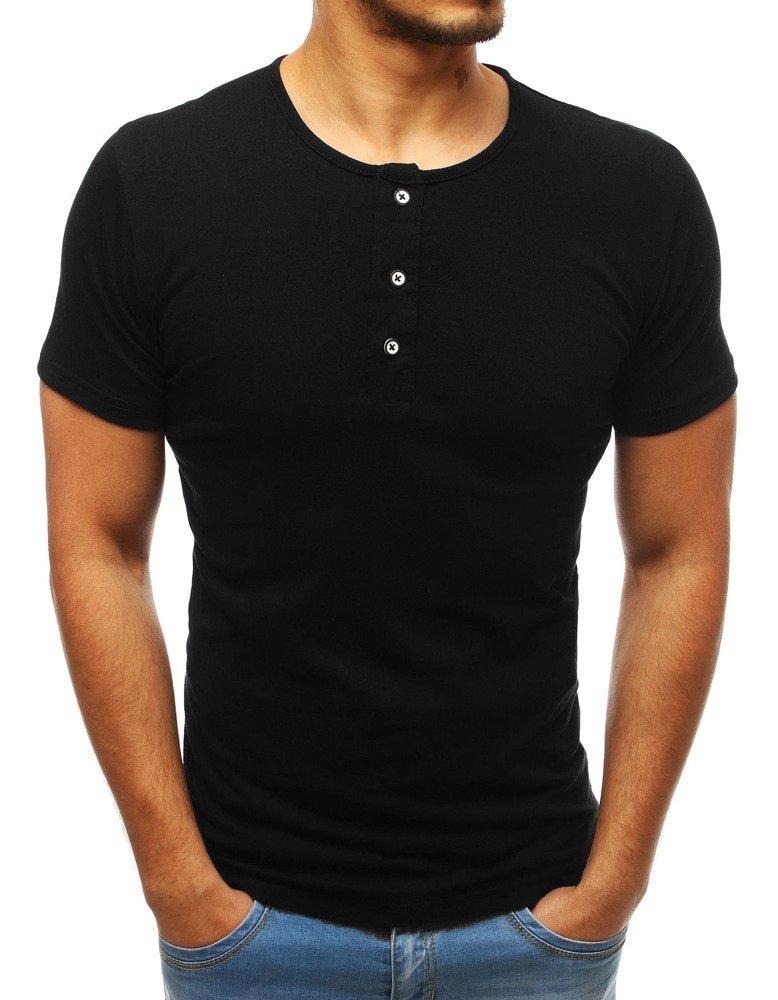 8616820e19eacc T-shirt męski bez nadruku czarny (rx3455) - sklep online Dstreet.pl